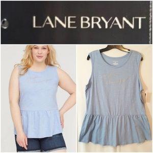 Lane Bryant Sunshine & Champagne Peplum Tee